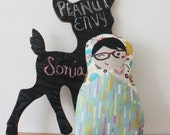 Sonja Russian Doll, Matryoshka Plush Doll, Children Softie, Collectible Keepsake, Glasses, Nerd, specs, Nesting Doll, New Design