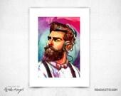 Bearded Muchacho  - 8x11 Print