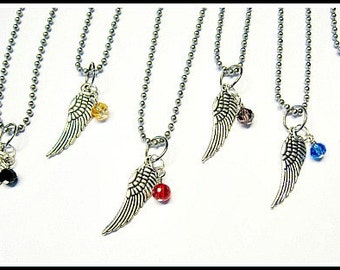 As Seen At The GBK's MTV Movie Awards Celebrity Gift Lounge Angel Wing and Swarovski Crystal Pendant Necklace