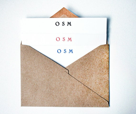 The Classic Flat -- Stationery Set of Cards & Envelopes for Him or Her- CHOOSE your QUANTITY