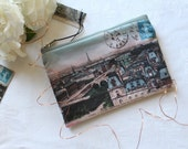 Paris Panorama Postcard zipper pouch