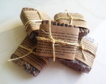 4 ounce Bar ONE DoLLAR per oz Face Acne Soap AFRICAN BLACK SoAp LoOk! Vegan Organic Raw Natural African Black Soap Eczema Pure AfFoRdAbLe