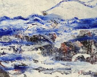 Abstract sea debris