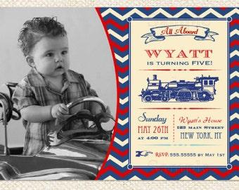 Train Birthday Invitations - Train invitatons
