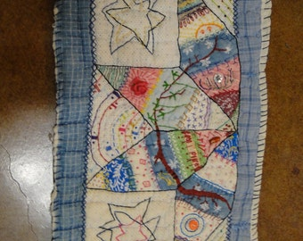 STARRY STARRY NIGHT - embellished quilt wall art