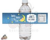 Twinkle Twinkle Baby Shower Water Bottle Label - DIY Printable File
