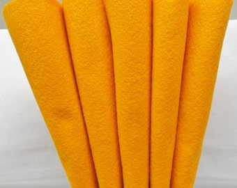 Wool Felt - Wool Sheets - Sunburst Orange Wool - Merino Blend Wool Felt - Craft Felt - 12 X 18