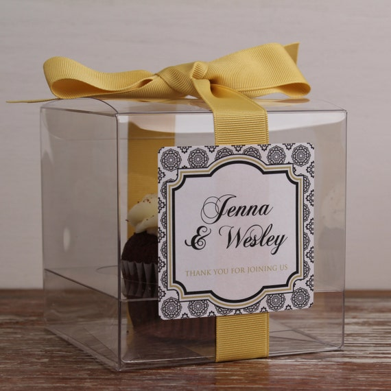 items similar to 8 wedding favor cupcake boxes west design any color wedding favors. Black Bedroom Furniture Sets. Home Design Ideas
