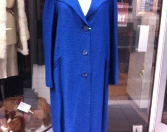 1950 Blue Silk Coat
