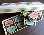 Vintage Matches La Petite Swedish 16 boxes Adorable Pink Blue Green Whole Box!