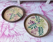 An other Flea Market find  French Antique  Faience  Pot Saucers 1900s