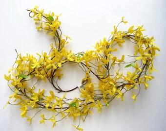 Forsythia Garland Faux Flowers