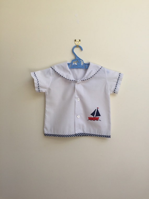 vintage c stuart sailor boy shirt: size 2 years