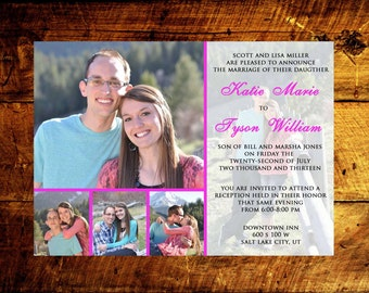 photo wedding invitations, modern wedding invitations, wedding invitations, wedding invites, rustic wedding invitations