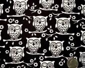 Owl Fabric, Cotton Fabric, Fat Quarters, Children Fabric