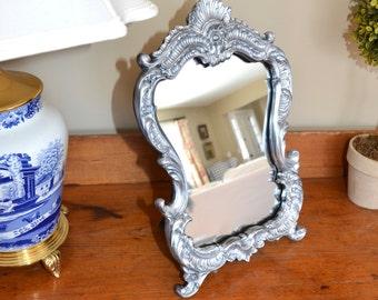 Silver Baroque Mirror, Dresser Mirror, Boudoir Mirror, Bedroom Mirror, Bathroom Mirror, Princess Mirror, French style Mirror