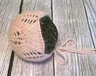 newborn bonnet pattern / baby hat / willow bonnet / photography prop / newborn hat / pdf file