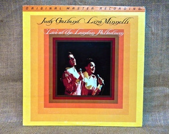 "JUDY GARLAND and daughter Liza MINNELLI - ""Live"" at the London Palladium - 1981 Vintage Vinyl Record Album...Audiophile Vinyl"