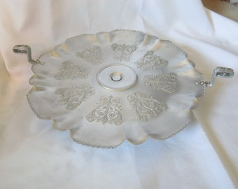 Embossed Aluminum Lazy Susan Serving Tray