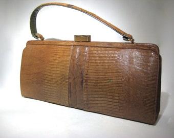 Palizzio Reptile Handbag - Lizard - Very New York