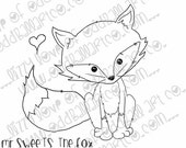 Digi Stamp Whimsical Kawaii Digital Instant Download - Mr. Sweets the Fox Image No. 192 by Lizzy Love