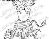 Digi Stamp Digital Instant Download Whimsical Ragdoll Zeddy the Zebra ~ Zeddy Get Bobo Image No. 212 by Lizzy Love