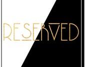 Reserved for Katelyn