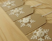 Set of 5 Handmade Snowflake Gift Tags