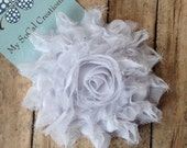 Large White Flower Hair Clip-No Slip Hair Clip-Touch of Sparkle