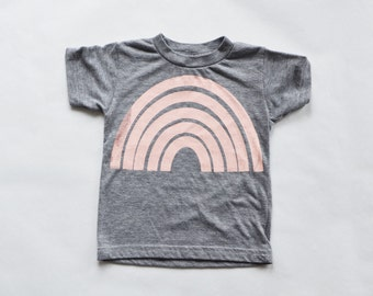Rainbow Gray kids American Apparel T Shirt