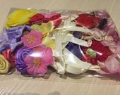 Assorted Flowers Bows Petal For Costume Headware Corsage Supplies