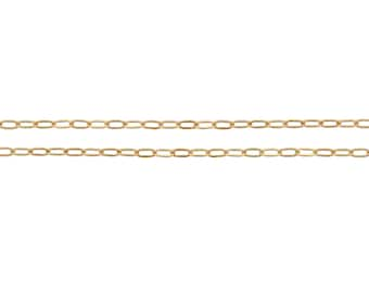 14Kt Gold Filled 1.8x1mm Elongated Drawn Cable Chain - 5ft Made in USA 10% discounted Lowest  Price wholesale quantity (5306-5)/1