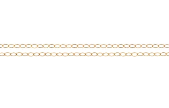 Bulk Quantity Discounted Price 14kt Gold Filled 2.1x1.5mm Flat Cable Chain - 60ft (20ft x 3) (2342-20)