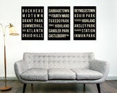 Subway Sign, ATLANTA Prints, Typographic Art Poster, Modern Art, Home, Gift for Him, Gift for Her, Georgia, Wall Art, coworker gift, holiday