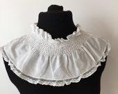 Vintage smocked collar
