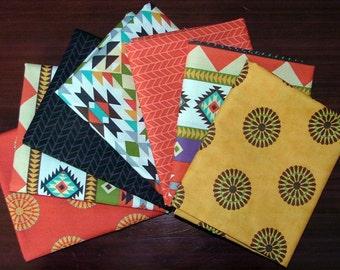 Fat Quarter Bundle of Native Sun by Abi Hall for Moda