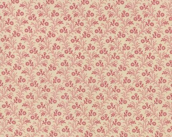 Petite Prints Pearl Faded Red Lignette Floral by French General for Moda