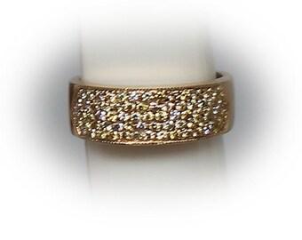 10K Gold Wedding Band embellished with diamonds