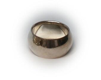 Sterling Silver Ladies Convex Fashion Ring