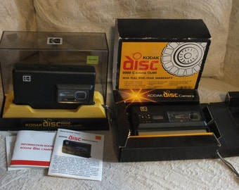 2 Kodak Disc Cameras, 6000 and 8000 models in their original packages