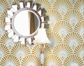 Gatsby Glam Art Deco Wall Stencil for Wallpaper Look
