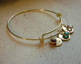 Hand Stamped Mommy Bracelet-Custom Bangle-Grandma Bracelet-Personalized Mother's Bracelet-New Mom Gift-Mother's Day Gift