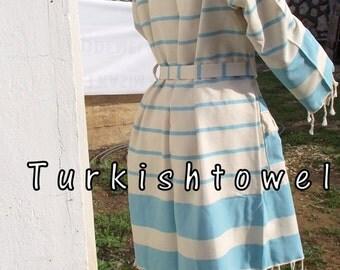 Turkishtowel-BATH ROBE-Custom Order-Traditional Turkish-High Quality,Hand Woven,Pure Cotton,Bath,Spa,Yoga,Travel From Peshtemal