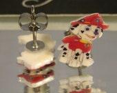 Paw Patrol Marshall Cartoon Stud Earrings - surgical steel