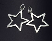 2 of 925 Sterling Silver Star Charms 18.5mm. :th1565