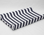 Contour Changing Pad Cover - Navy, White Stripe - Nora Reagan Collin Elizabeth Camille Bryn Liam Hayden Carter Oliver Everly - CP1