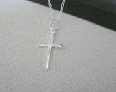 Sterling Silver Cross Necklace, Celebrity Jewelry, Cross Necklace, Gift for her,  Religious Necklace, Graduation Gift