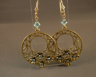 Earrings - Aquamarine Blue