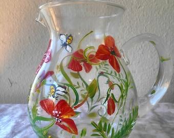 Poppy pitcher, reserved for customer