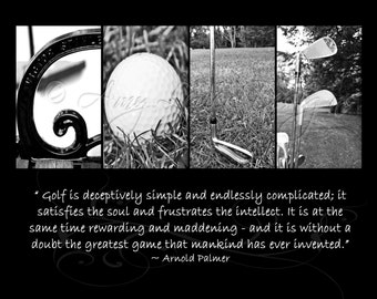 GOLF Alphabet Photography Letter Photos (various sizes) with Arnold Palmer Quote